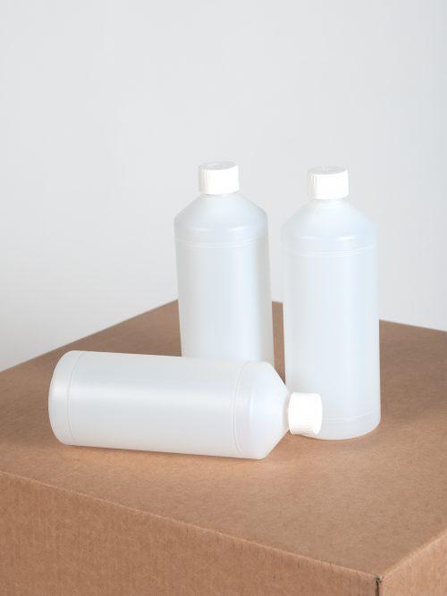 Flessen 1 liter transparant - 90 stuks - Verpakkingswebwinkel.nl