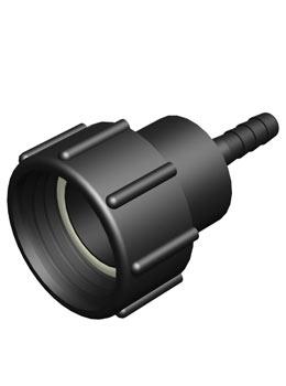 IBC adapter DIN61 - 1/2 inch slangtule - Verpakkingswebwinkel.nl