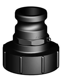 IBC adapter DN80 S100X8 - Camlock 2'' male - Verpakkingswebwinkel.nl