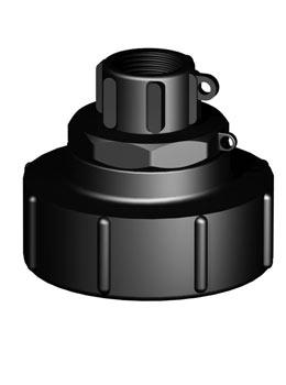 IBC adapter DN80 S100X8 - 1'' BSP binnendraad - Verpakkingswebwinkel.nl