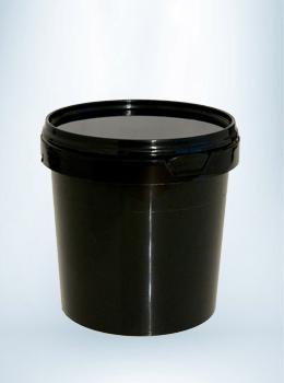 Zwarte emmer met deksel